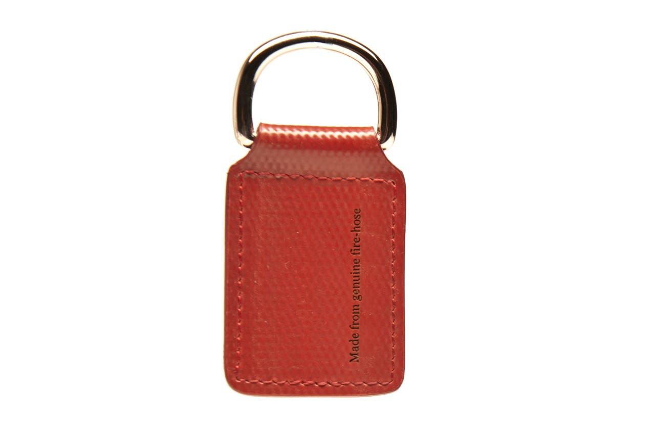 Schlüsselanhänger Rot aus britischem Feuerwehrschlauch - handgefertigt