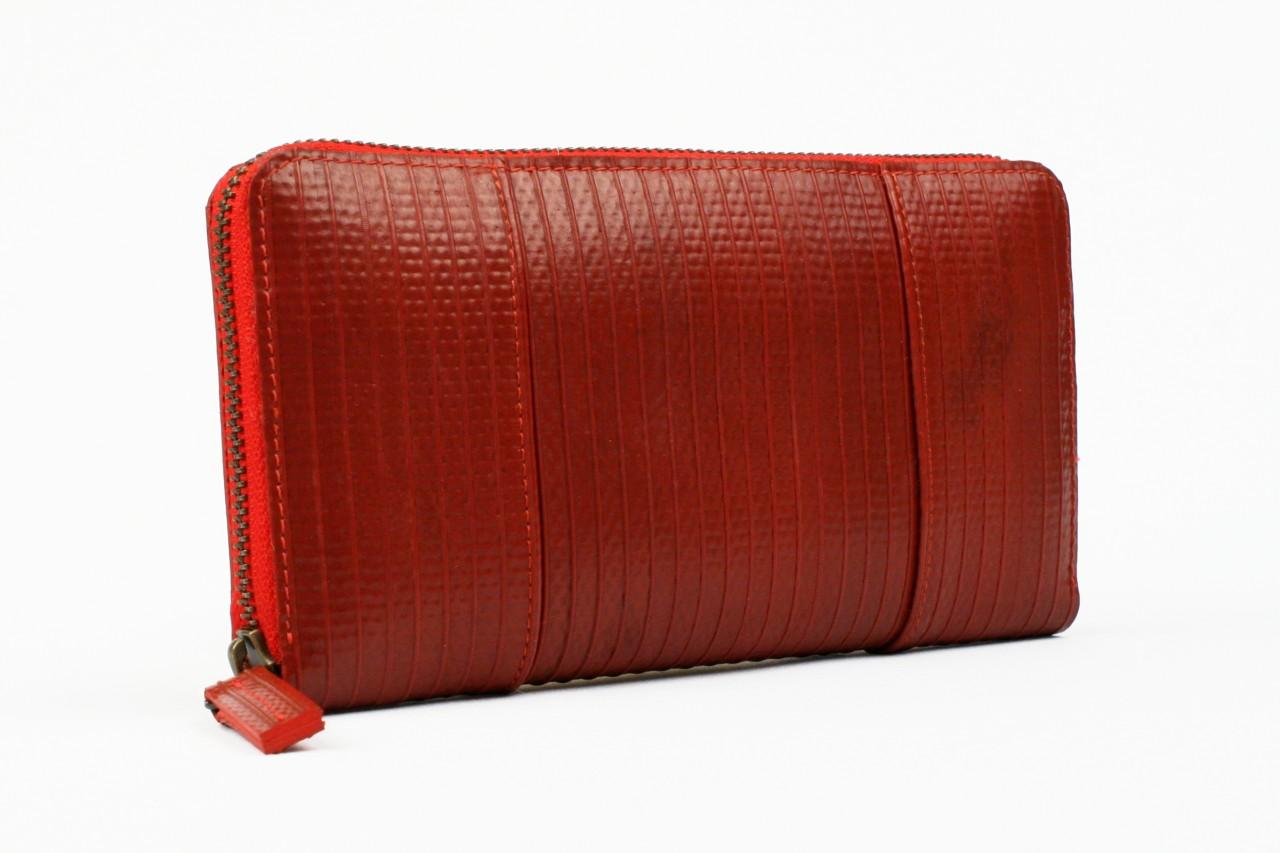 Ladies Purse / Geldbeutel Rot aus britischem Feuerwehrschlauch - handgefertigt